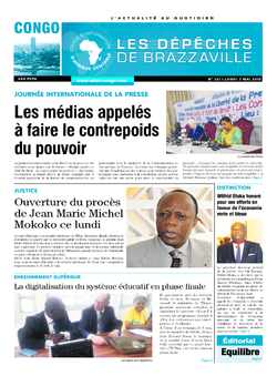 Les Dépêches de Brazzaville : Édition brazzaville du 07 mai 2018