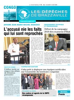 Les Dépêches de Brazzaville : Édition brazzaville du 08 mai 2018